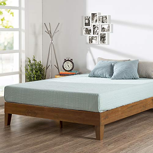 Zinus 12 Inch Deluxe Wood Platform Bed / No Boxspring Needed / Wood Guarantee: 5 yr fear free restricted guarantee.