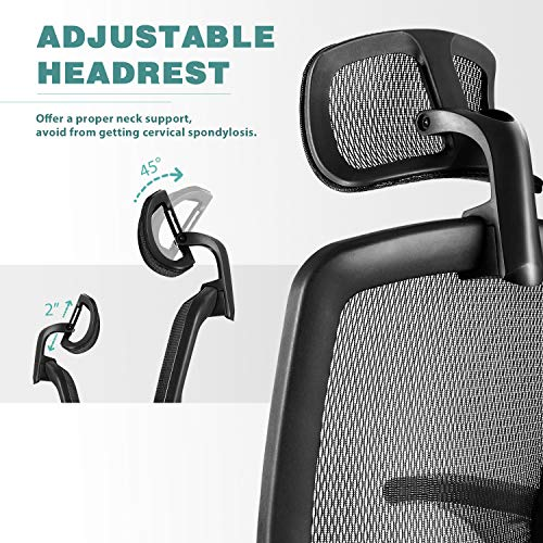 Gabrylly Ergonomic Mesh Office Chair, High Back Desk Chair Bundle Dimensions: 2.Three x 2.Three x 0.Four inches