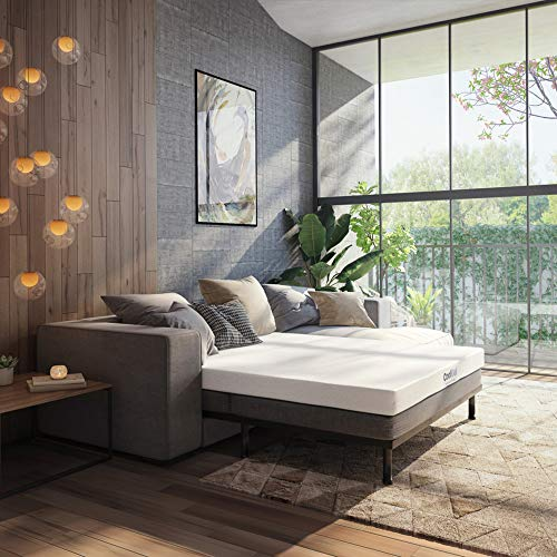 Classic Brands 4.5-Inch Cool Gel Memory Foam Replacement Sleeper Sofa Bed Mattress, Queen, White