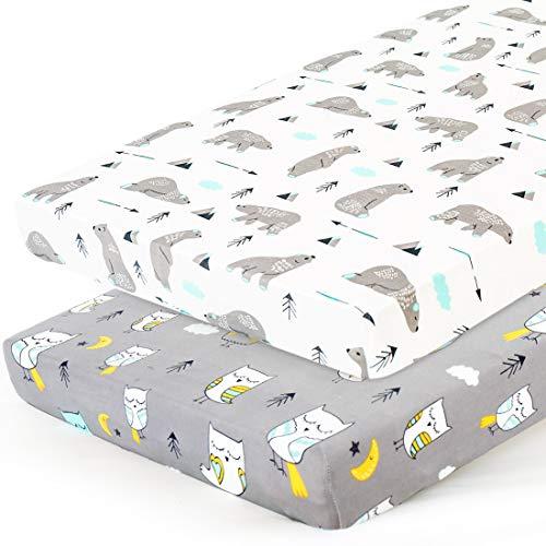 Stretchy-Pack-n-Play-Playard-Sheets-Brolex 2 Pack Portable Mini Crib