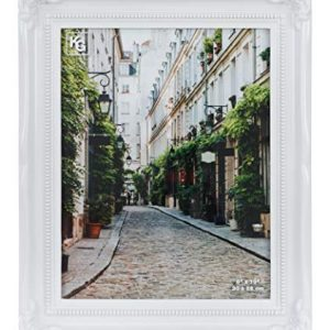 kieragrace Traditional Luxury-Frames, 8 by 10-Inch, White