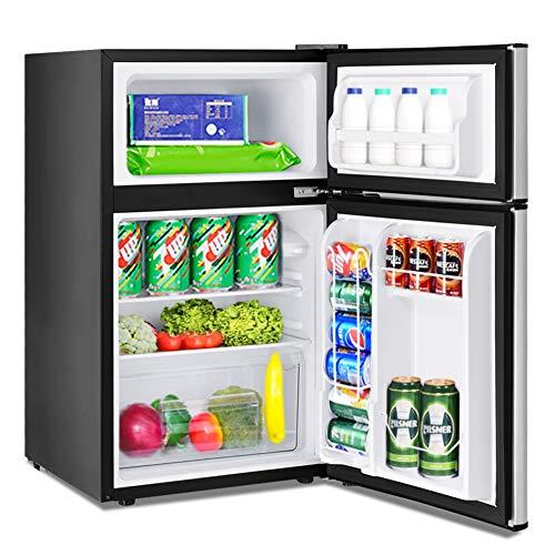 Mini Compact Refrigerator, Safeplus 3.2 cu ft. Unit Cold-Rolled Sheet Mini Refrigerator with Freezer, Dorm Fridge with Adjustable Removable Shelves