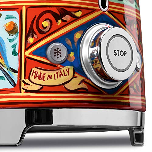 """Dolce and Gabbana x Smeg 2 Slice Toaster, """"Sicily Is My Love,"""" DOLCE & GABBANA X SMEG: Dolce & Gabbana and SMEG be part of artistic forces to create """"Sicily is my Love,"""" a singular, new venture made in Italy. Conventional Sicilian handicraft is the inspiration for the decorations of the 2-slice toaster. This marvelous object is adorned within the method of bummuli and quattare, typical terracotta vases from Sicily painted in the identical type as the normal cart, embellished by silk screening and lithography."""