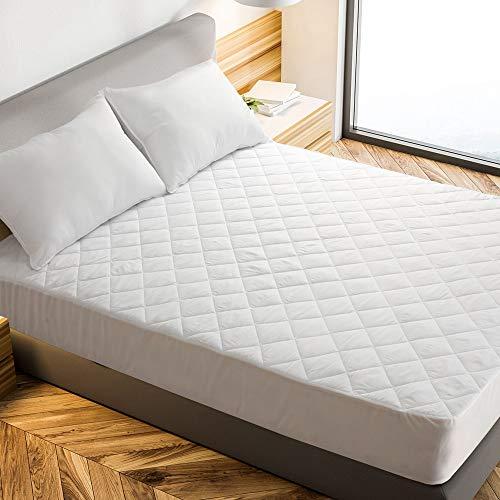 """EcoMozz Queen Mattress Pad Pillow Top Mattress Cover Mattress Protector - Deep Pocket Stretches up 8"""" - 21"""""""