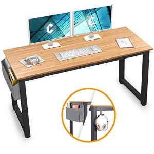 "Cubiker Computer Desk 47"" Sturdy Office Desk Modern Simple Style Table for Home Office, Notebook Writing Desk with Extra Strong Legs, Natural"
