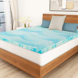 Mattress Topper, 2 Inch Gel Memory Foam Mattress Topper Queen with Ventilated Design - Queen Size