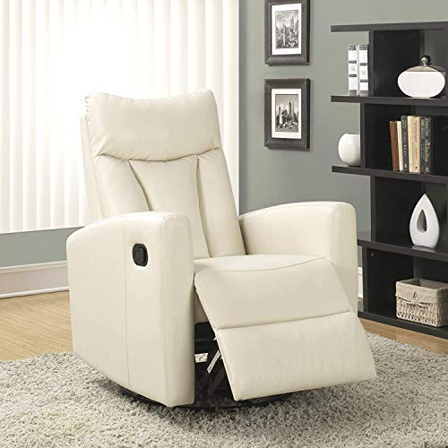 """Monarch Specialties (white) Recliner chair, 30"""" L x 30"""" W x 41"""" H"""