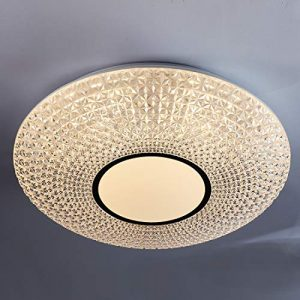 CORSO 48W LED Crystal Dimmable Ceiling Light Fixture, 20 Inch Modern Flush Mount Round Lighting for Dining Room, Bedroom, Living Room, Kitchen, 3000K Warm White, 4000lm, Extra Large
