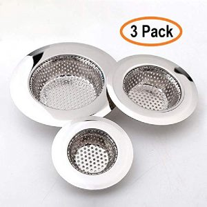 Teklingo Hair Catcher Shower Drain(3 Pack), Bathtub Drain Cover, Sink Tub Drain Stopper, Sink Strainer for Kitchen and Bathroom,Hair Stopper for Bathtub Drain Cover Size from 2.13'' to 4.5''.