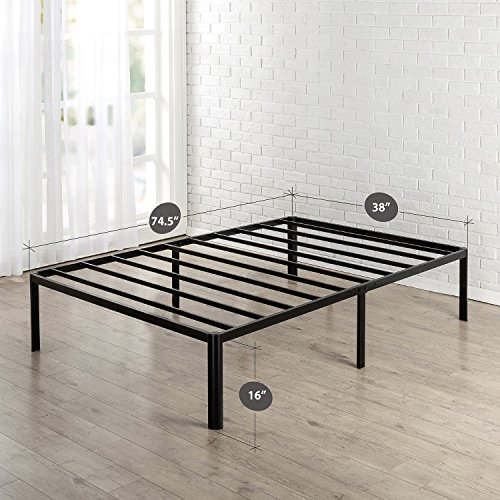 Zinus Van 16 Inch Metal Platform Bed Frame with Steel Slat Support Package deal Dimensions: 74.5 x 37.9 x 16.zero inches