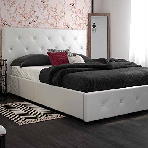 DHP Dakota Upholstered Platform Bed with Storage Drawers Package deal Dimensions: 64.5 x 84.5 x 38.zero inches