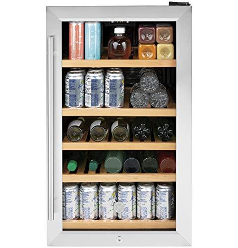 "GE GVS04BQNSS Appliances 19"" Stainless Steel Beverage Center"