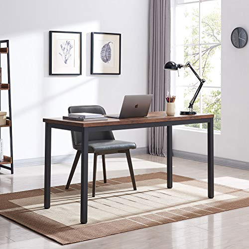 """VINEXT 47"""" Industrial Computer Desk, Writing Desk, Home Office Desk, PC Laptop Table, Simple Study Table, Table for Living or Dining Room, Easy to Assemble, 0.7in (1.8cm)thickened desktop, Rustic Brow"""
