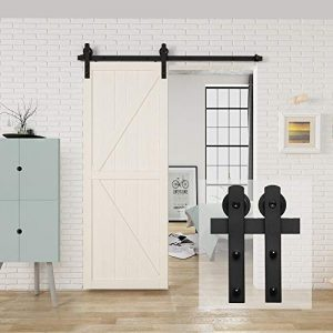 HomLux 5ft Heavy Duty Sturdy Sliding Barn Door Hardware Kit
