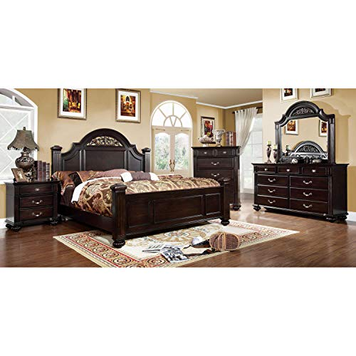 247SHOPATHOME bedroom-furniture-sets, California King, Walnut