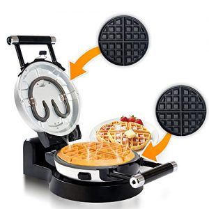 Secura Upgrade Automatic 360 Rotating Non-Stick Double Belgian Waffle Maker w/Removable Plates
