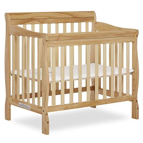 Dream On Me Aden 4-in-1 Convertible Mini Crib, Natural