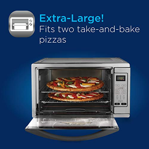 Oster Extra Large Digital Countertop Convection Oven, Stainless Steel Guarantee: 1 12 months producer restricted