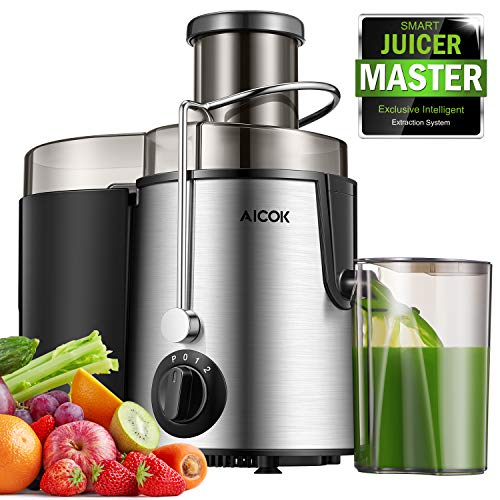 "Juicer Centrifugal Juicer Machine Wide 3"" Feed Chute Juice Extractor Easy to Clean, Fruit Juicer with Pulse Function and Multi Speed control, Anti-drip , Stainless Steel BPA-Free"