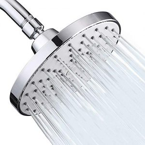 Aisoso High Pressure Shower Head 6 Inch Rain Modern Luxury Rainfall Showerhead Chrome Plated for Easy Replacement Your Bathroom Shower Heads