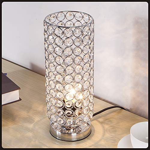 Focondot Crystal Table Lamp, Decorative Nightstand Room Lamps Package deal Dimensions: 4.Four x 4.Four x 11.zero inches