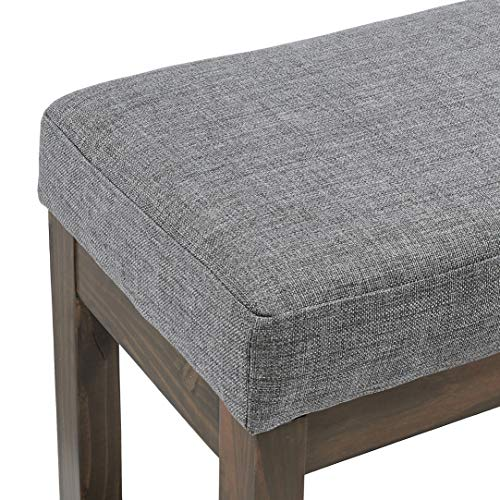 Red Hook Leda Rectangular Ottoman Bench with Fabric Upholstery Bundle Dimensions: 44.1 x 14.four x 18.four inches
