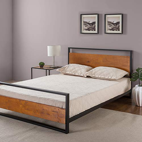 Zinus Suzanne Metal and Wood Platform Bed with Headboard and Footboard Package deal Dimensions: 84.zero x 59.5 x 37.zero inches