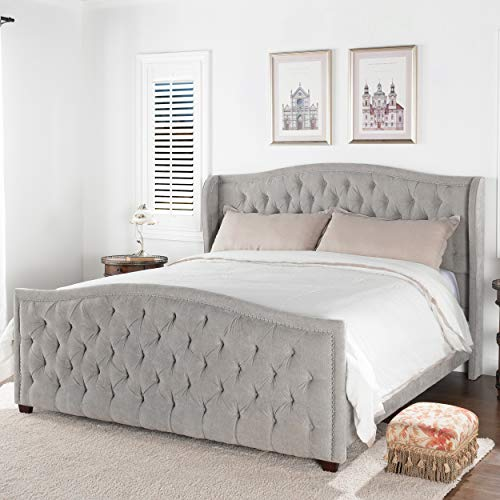 Jennifer Taylor Home Marcella Tufted Wingback King Bed Package deal Dimensions: 84.zero x 12.zero x 33.zero inches