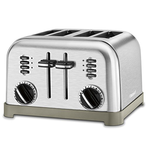 Cuisinart Metal Classic 4-Slice toaster, Brushed Stainless Guarantee: Restricted, 3-year Guarantee