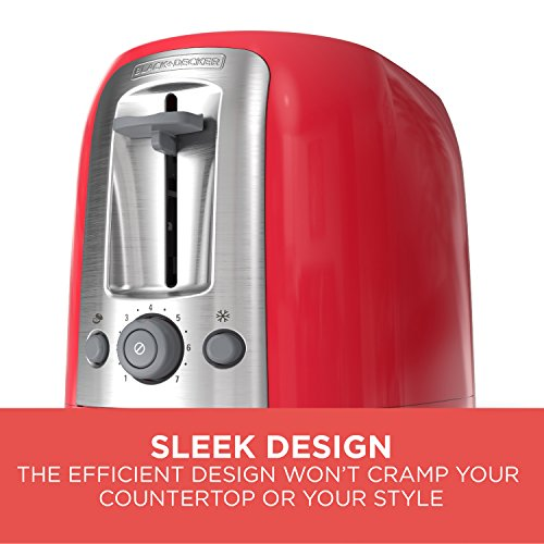 BLACK+DECKER 2-Slice Toaster, Red Package deal Dimensions: 5.zero x 6.1 x 9.5 inches