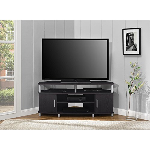 """Ameriwood Home Carson Corner TV Stand for TVs up to 50"""", Black"""