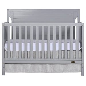 Dream On Me Cape Cod 5 in 1 Convertible Crib, Pebble Grey