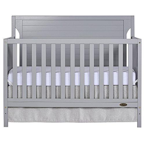 Dream On Me Cape Cod 5 in 1 Convertible Crib, Pebble Grey
