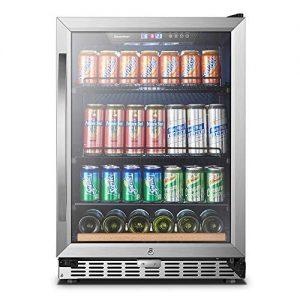 24 Inch 110 Cans, Sinoartizan Built-in Beverage Refrigerator
