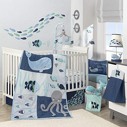 Lambs and Ivy Oceania 6-Piece Baby Crib Bedding Set