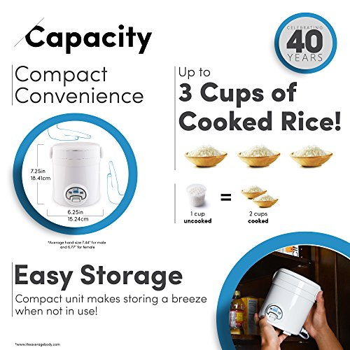 Aroma Housewares MI 3-Cup (Cooked) (1.5-Cup UNCOOKED) Cool Touch Package deal Dimensions: 6.eight x 6.Three x 7.Three inches