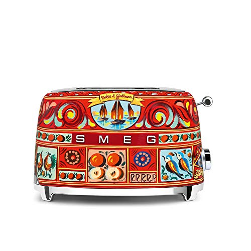 """Dolce and Gabbana x Smeg 2 Slice Toaster, """"Sicily Is My Love,"""" Collection"""