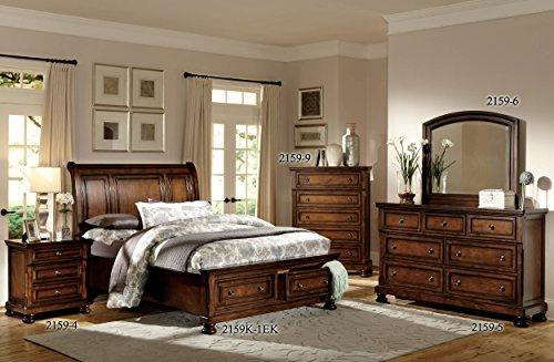 Homelegance Mardelle Sleigh Platform Bed, King, Cherry