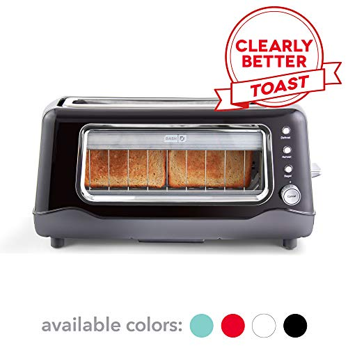 Dash Clear View Toaster: Extra Wide Slot Toaster with Stainless Steel Accents