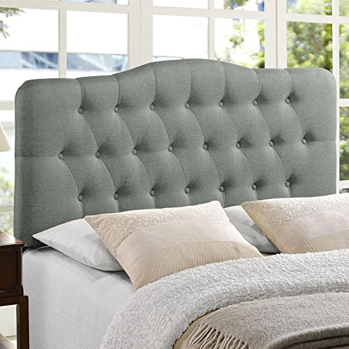 Modway Annabel Tufted Button Linen Fabric Upholstered Queen Headboard Guarantee: One 12 months guarantee towards producer defects.