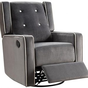 Naomi Home Odelia Swivel Glider Rocker Recliner Gray/Microfiber
