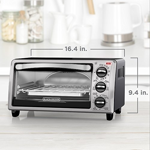 Black+Decker Toaster Oven Bundle Dimensions: 16.four x 11.three x 9.four inches