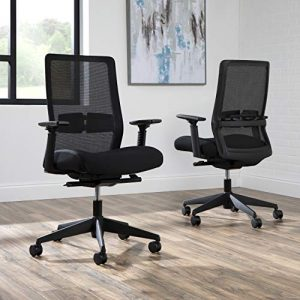 HON BASYX Biometryx Commercial-Grade Task Chair, Office Chair, in Black (BSX155VA10T)