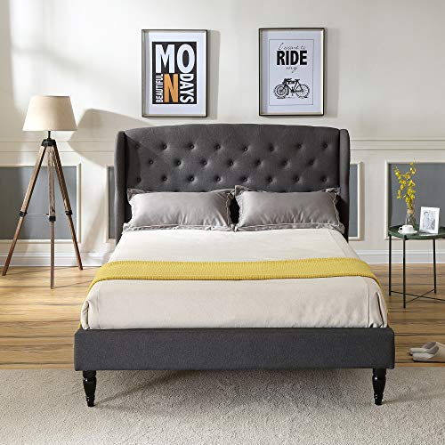 Classic Brands Coventry Upholstered Platform Bed   Headboard and Metal Frame Launch Date: 2018-06-02T00:00:01Z