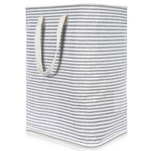 """Lifewit 23.6"""" Freestanding Laundry Hamper Collapsible Large Clothes Basket with Easy Carry Extended Handles for Clothes Toys, Grey"""