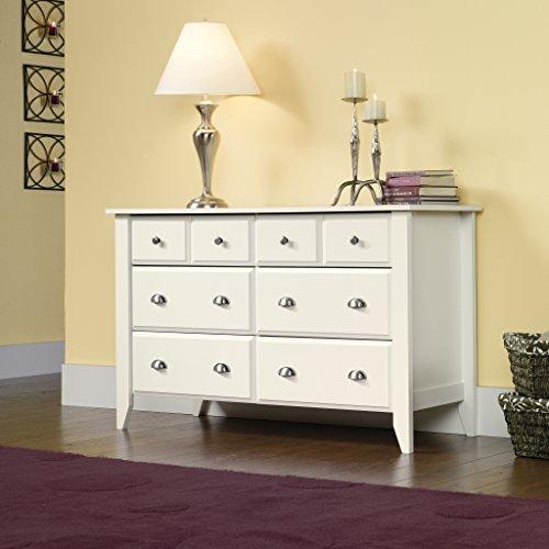 Sauder Shoal Creek Dresser, Soft White finish Guarantee: 5 yr components.