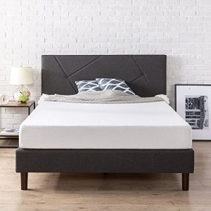 Zinus Judy Upholstered Platform Bed Frame, Queen
