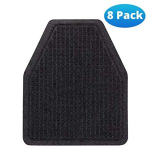 Urinal Mats (8 Pack) - Bathroom Urinal Mat for Floor - Dark Gray Splash Mats for Men's Restroom