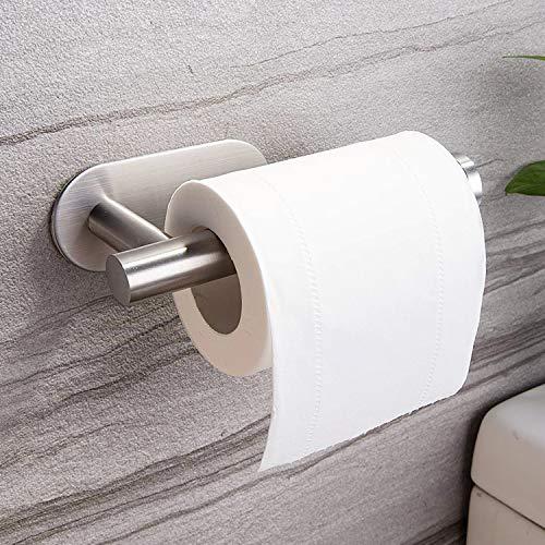 Taozun Toilet Paper Holder Self Adhesive Bathroom Paper Towel Roll Holder Wall Mount, SUS 304 Stainless Steel