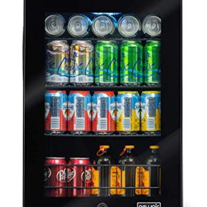 NewAir 90 Can Freestanding Beverage Fridge, Black